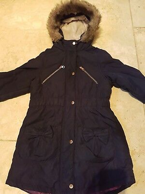 Girls Ted Baker Navy Coat age 10 years