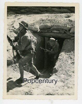 Pre WW2 1937 China Photograph Battle Shanghai Nationalist Soldiers Bunker Photo