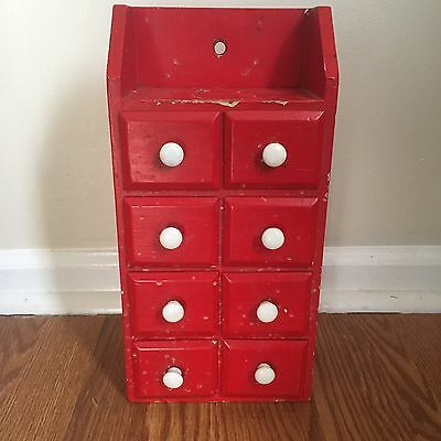 Antique Apothecary Spice Cabinet