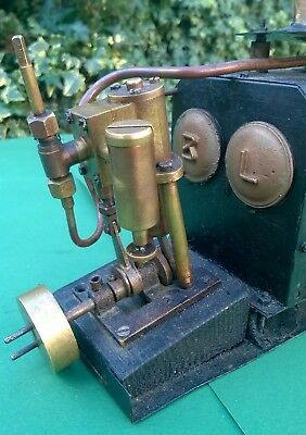 Bassett Lowke 1930 Streamlinia steam boat battleship boiler engine burner bing