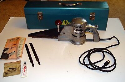 Wellsaw # 400 Portable Hand Held Butchers / Construction Saw w/ Box & Manual