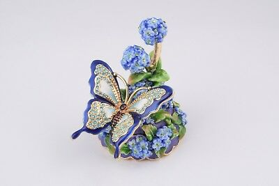 Butterfly Faberge trinket box  hand made by Keren Kopal with Austrian crystals