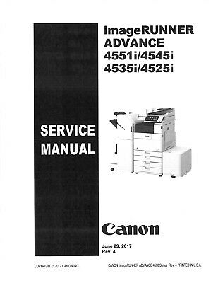 Canon imageRUNNER Advance 4525i/4535i/4545i/4551i Service and parts manual