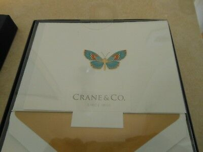 Crane & Co. Engraved Butterfly Note Cards
