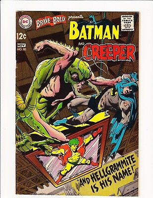 Brave And The Bold #80 Neal Adams Art & Cover! Batman And The Creeper! Nice 1968