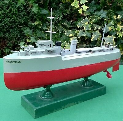 Nice Sutcliffe Grenville 1934 13 inch clockwork works boat ship bing germany