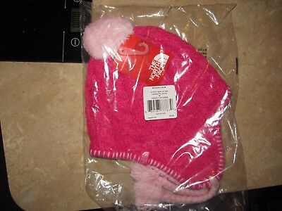New The North Face Girls Fuzzy Earflap Beanie winter stocking hat youth MSRP $35