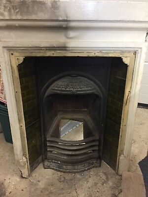 Edwardian Cast Iron Fireplace Fire Surround Vintage Reclaimed Original Antique