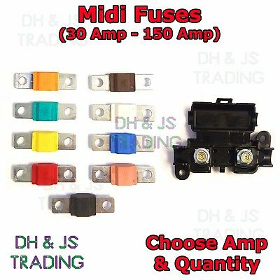 Midi Fuses Midi Fuse Holder Car Auto Van Truck Strip Link Fuse 30 - 150 A