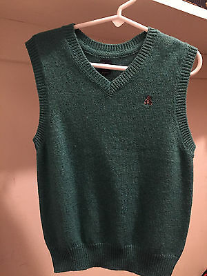 Baby GAP Boys Green Teal Heather Sweater Vest Size 5 NWT
