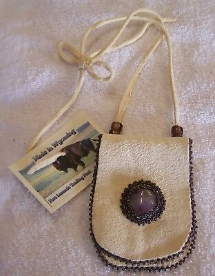 Hand Made Small Beaded Neck Pouch Rendezvous Black Powder Mountain Man 27