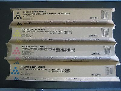 Ricoh Type MP C5501/C9155/LD655C Color Toner Set(841582, 841453, 841454, 841455)