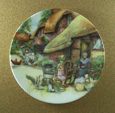 Old Country Crafts THE SPINNER Plate #3 Susan Neale Royal Doulton 1990 HTF 1315B