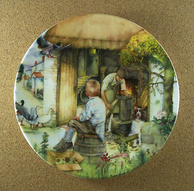 Old Country Crafts THE COOPER Plate #10 Susan Neale Royal Doultan 1992 HTF + COA