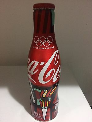 Coca Cola Aluminum bottle Romero britto olimpic games Full Rare Brazil