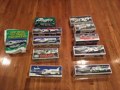 Multiple Hess Trucks from Different Year