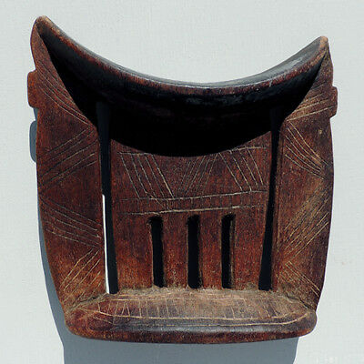 an old antique african neckrest/headrest arussi ethiopia #13