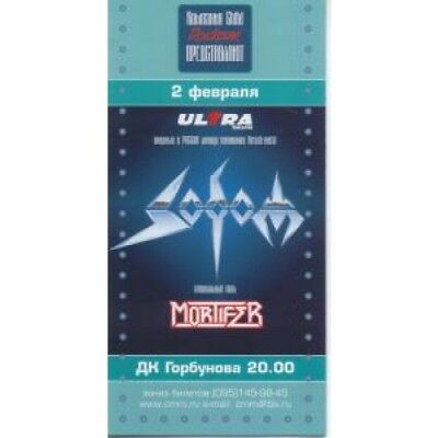 SODOM Live In Moscow 02/02/03 CONCERT PROGRAMME Russian 2003 Full Colour
