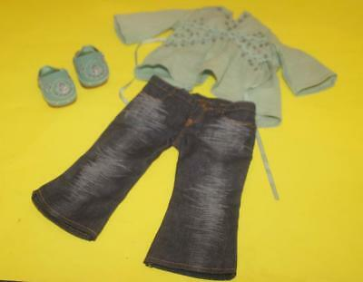 3pc Set American Girl Doll Julie Sparkly Tunic and Jeans Outfit