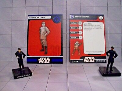 WotC Star Wars Miniatures Imperial Officer, All & Emp 30/60, Emp,Uncom, Lot of 2