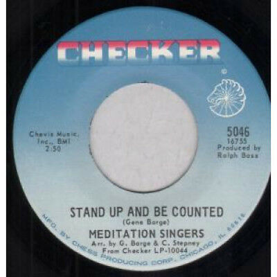 """MEDITATION SINGERS Stand Up And Be Counted 7"""" VINYL US Checker 1968 B/W Let"""