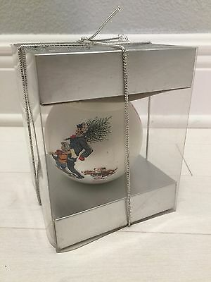 Hallmark 1974 Vintage Norman Rockwell Keepsake Ornament In Box MINT