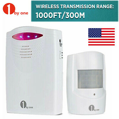 1byone Wireless Driveway Alert Alarm System Infrared Motion Sensor Security