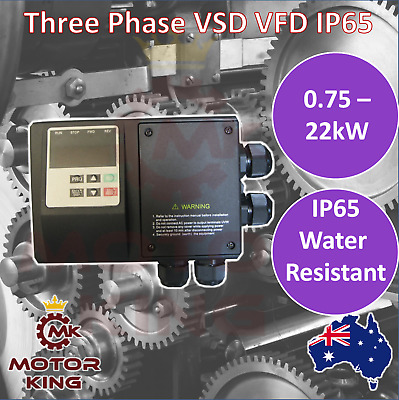 Three Phase 0.75 to 5.5 kW VSD VFD Variable Speed Drive IP65 Water Resistant