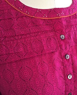 Anokhi Fuschia Kurta, 100% Cotton