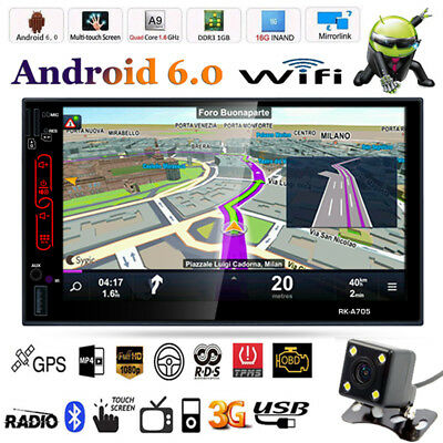 Android 3G WiFi 7'' 2 DIN Car GPS Stereo Audio Radio Video MP3 Player AM/FM/RDS