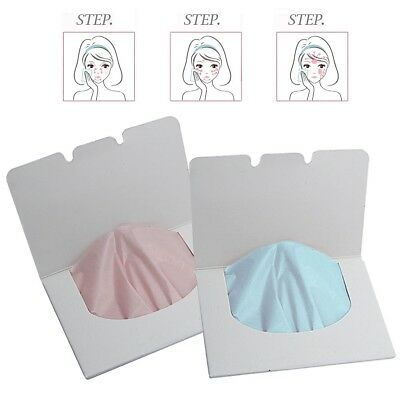 100 Sheets Make Up Oil Control Oil-Absorbing Blotting Facial Face Clean Paper