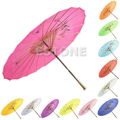 New Chinese Japanese Handmade Umbrella Art Painted Parasol for Wedding Party