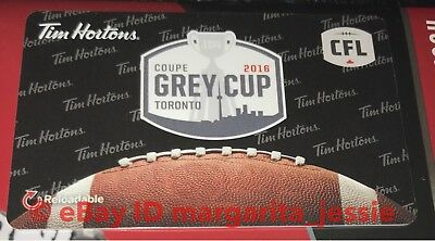 Tim Hortons Canada Gift Card 2016 Toronto Grey Cup Cfl Football No Value Fd54001