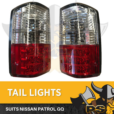 CLear LED Tail lights for Nissan Patrol GQ 1988-1997 Series 1 2