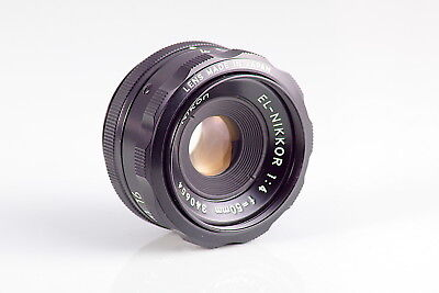 NIKON EL-NIKKOR 4/50mm OBJETIVO AMPLIADORA CLASSIC ENLARGING LENS MADE IN JAPAN