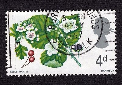 Great Britain 1967 4d Wild Flowers SG717 FINE USED R40555