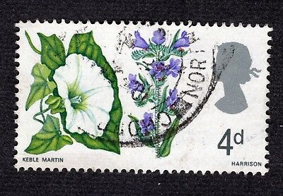 Great Britain 1967 4d Wild Flowers SG718 FINE USED R40556