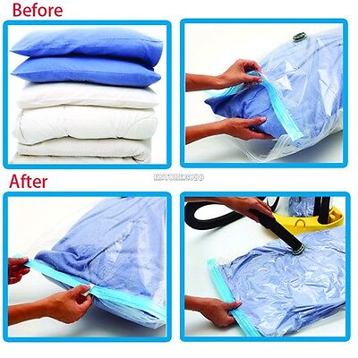 New 6x Jumbo Seal Compressed Vacuum Bag Storage Organizer Space Saver Pouch Bags  sc 1 st  PicClick & STORAGEMANIAC JUMBO CUBE Vacuum Storage Bags Compressed Space Saver ...