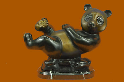 Bronze LTD Edition Large Panda Home Office Cabin Decoation Deco Sculpture AB
