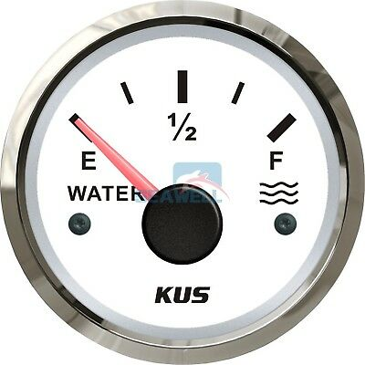 KUS Marine Water Level Gauge Boat Car Truck Tank Level Gauge 52mm 240-33 ohms