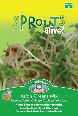 Sprouting Seeds - Sprouts Alive Asian Greens Mix by Mr. Fothergill