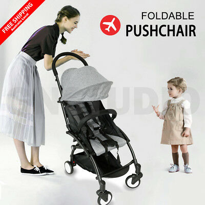 Baby Pram Stroller Lightweight Jogger Compact Pushchair Foldable Travel on Plane