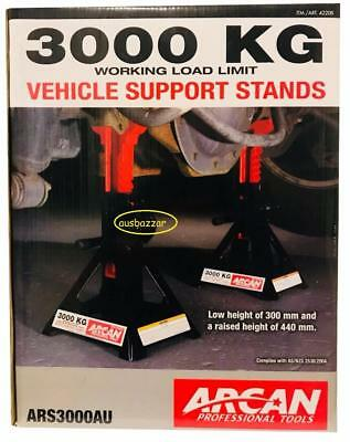 ARCAN AU 2pc Car Jack Stand 3000kg Ratchet Adjustable Lift Hoist Heavy Duty Stee