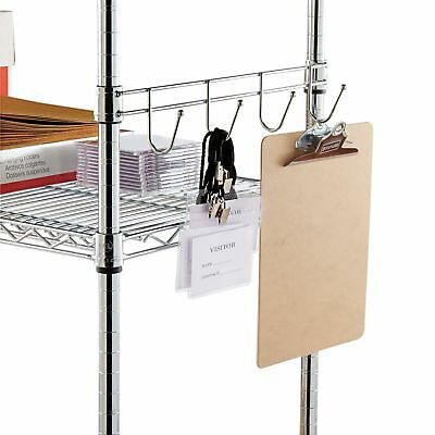 "Alera 18"" Hook Bars For Wire Shelving, Silver - 2 pack  NEW"