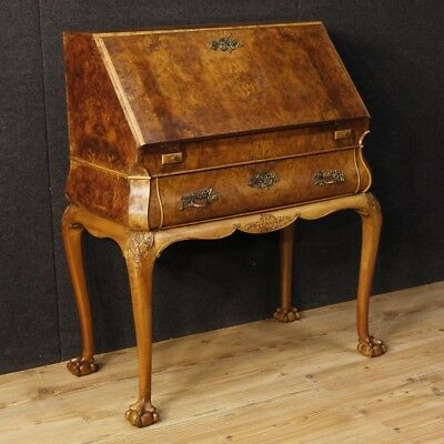 Bureau in wood furniture secrétaire desk Dutch dresser antique style 900
