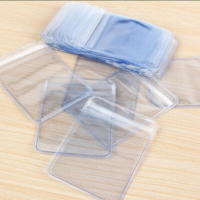 PVC Plastic Coin / Badge Holders Clear Plastic bag Wallet Envelope Zip Lock UK