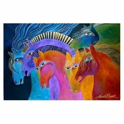 Laurel Burch Canvas Wild Fire Horses 12x19 Wall Art