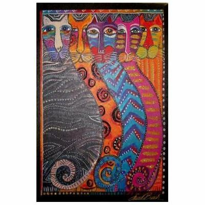 Laurel Burch Canvas Gatos Fantasticos Cat 10x15 Wall Art