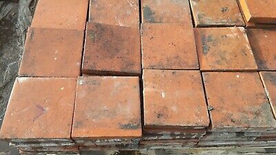 "Genuine Reclaimed Red Quarry Tiles 6""x6"" 