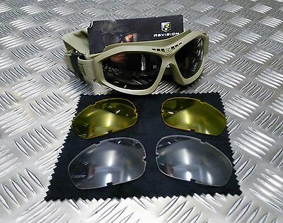 Genuine British Army Issue Revision Bullet Ant Ballistic Goggles - COYOTE / TAN